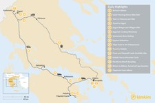 Map thumbnail of Mainland Greece Adventure Trip - 15 Days