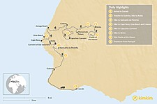 Map thumbnail of Sintra Heritage & Coastal Trails - 8 Days