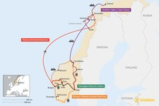 Map thumbnail of 2 Weeks in Norway - 4 Unique Itinerary Ideas
