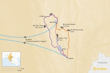 Map thumbnail of How to Get from Inle Lake to Loikaw
