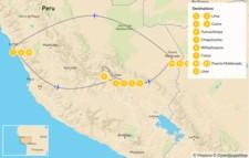 Map thumbnail of Inca Trail & Amazon Excursion - 13 Days
