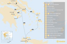Map thumbnail of Active Athens, Mainland Greece, Cyclades, and Crete - 24 Days