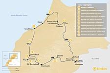 Map thumbnail of Morocco Grand Tour: Cultural Cities, Sahara Desert & Atlas Hiking - 10 Days
