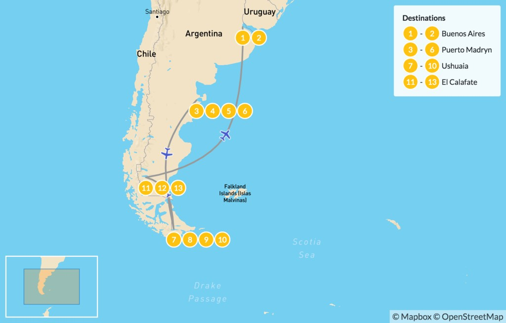 Map of Best of Argentina - 14 Days