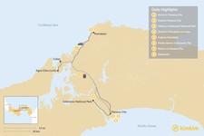 Map thumbnail of Panama History & Nature Tour - 8 Days