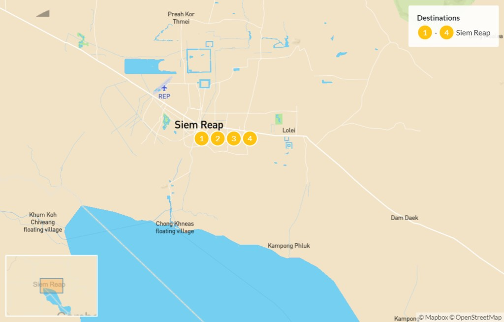 Map of Siem Reap: Angkor Culture & Cuisine - 5 Days