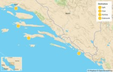 Map thumbnail of Best of Dalmatia: Split to Dubrovnik - 5 Days