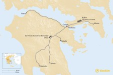 Map thumbnail of How to Get from Athens to the Peloponnese Peninsula