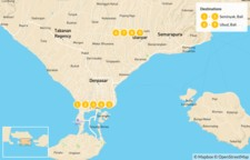 Map thumbnail of Nyepi Celebration in Bali : Seminyak & Ubud - 10 Days
