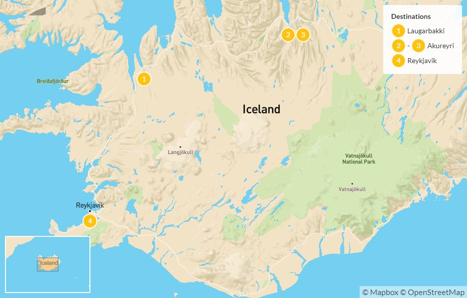 Map of Quick Road Trip to Iceland's North & Lake Mývatn - 5 Days
