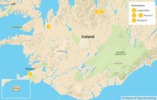 Map thumbnail of Quick Road Trip to Iceland's North & Lake Mývatn - 5 Days
