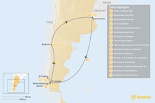 Map thumbnail of Discover Argentine Patagonia: Buenos Aires, El Calafate, El Chaltén, Bariloche - 16 Days