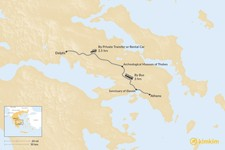 Map thumbnail of How to Get from Athens to Delphi