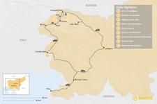 Map thumbnail of Slovenian Hiking Adventure: Lake Bled, the Julian Alps,  Goriška Brda, and Piran - 9 Days