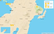 Map thumbnail of North Sulawesi: From Coral Reefs to Active Volcanoes - 7 Days