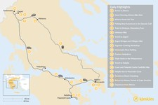 Map thumbnail of Mainland Greece Adventure Trip - 18 Days