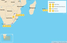 Map thumbnail of South Africa and Mauritius: Cape Town, Johannesburg, Safari, & More - 15 Days