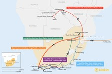 Map thumbnail of 15 Days in South Africa - 5 Unique Itinerary Ideas