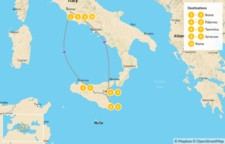 Map thumbnail of Rome & Sicily Highlights - 11 Days