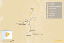 Map thumbnail of Trekking Ecuador's Avenue of the Volcanoes - 8 Days