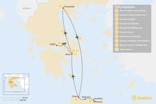 Map thumbnail of Discover Athens, Thessaloniki & Crete - 10 Days