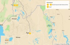 Map thumbnail of Gorilla Trek in Uganda - 3 Days