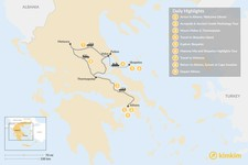 Map thumbnail of Central Greece & Skopelos Exploration - 9 Days