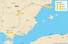 Map thumbnail of Seville, Madrid & Barcelona - 10 Days