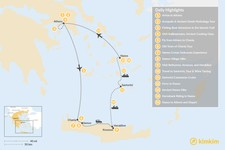 Map thumbnail of Experience Local Greece: Athens, Crete, & the Cycladic Islands - 15 Days
