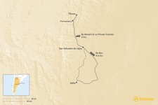 Map thumbnail of How to Get from Salta to Tilcara