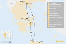 Map thumbnail of Discover Athens, Thessaloniki & Crete - 13 Days