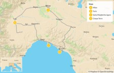 Map thumbnail of Grand Cities and Classic Riviera Villages: Turin, Santa Margherita Ligure, Cinque Terre, & More - 8 Days