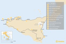 Map thumbnail of Spectacular Self-Drive Tour Around Sicily - 14 Days