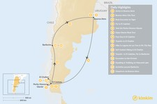 Map thumbnail of Discover Argentine Patagonia: El Calafate, El Chaltén, Bariloche - 15 Days