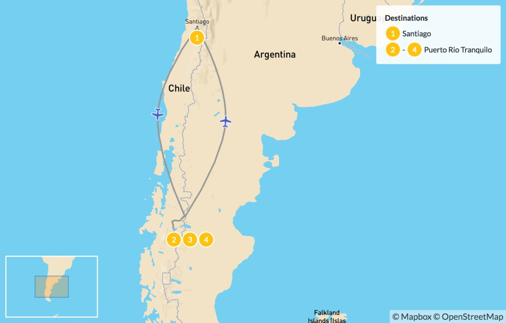Map of Marble Caves & Carretera Austral - 5 Days