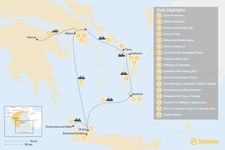 Map thumbnail of Laid-Back Athens, Tinos, Mykonos, Santorini, and Crete - 17 Days