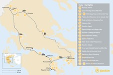 Map thumbnail of Mainland Greece Adventure Trip - 21 Days