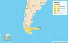 "Map thumbnail of Punta Arenas & the ""O"" Trek - 14 Days"