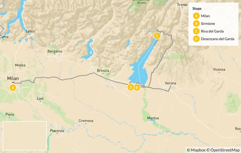 Map of Explore Scenic Lake Garda - 8 Days