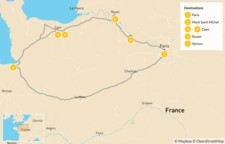 Map thumbnail of Normandy Discovery Tour - 7 Days