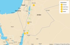 Map thumbnail of Active Adventure in Jordan: Wadi Mujib, Petra, Wadi Rum, Aqaba - 5 Days