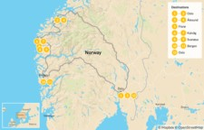 Map thumbnail of Islands & Fjords in Western Norway - 13 Days