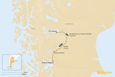 Map thumbnail of How to Get from El Calafate to Puerto Natales