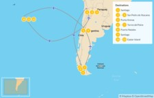 Map thumbnail of Chile Grand Tour: Santiago, Atacama Desert, Torres del Paine, & Easter Island - 13 Days