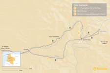 Map thumbnail of Los Nevados Trek - 3 Days