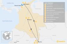 Map thumbnail of Bogotá, Amazon & Cartagena - 10 Days