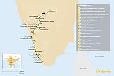 Map thumbnail of Cycling Karnataka and Kerala — 14 Days