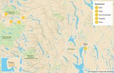Map thumbnail of Multi-Day Trek in the Norwegian Highlands - 6 Days