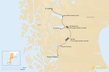 Map thumbnail of How to Get from El Chaltén to Puerto Natales