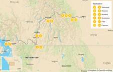 Map thumbnail of Vancouver to Calgary Road Trip: Okanagan Valley & Canadian Rockies - 14 Days